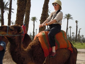 Mary on camel tall